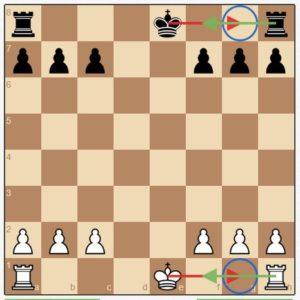 Шахматы правила игры для новичков: принцип рокировки изображен схематично на обеих сторонах доски.