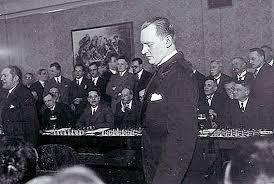 Шахматная партия Алехина в Чехословакии 1931 года - сеанс одновременной игры