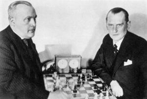 Свой титул чемпиона шахматист Алехин подтверждал с Боголюбовым и Максом Эйве
