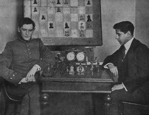 Шахматисты мира - Алехин и Капабланка  в 2014 году (Санкт-Петербург)